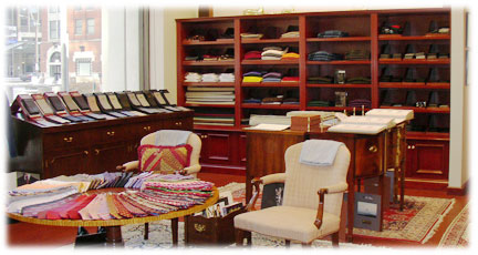 [Interior of Scafidi Tailors store]